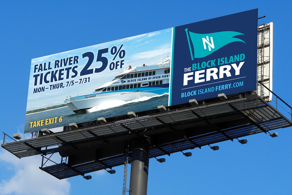 Block Island Ferry - Billboard Advertising