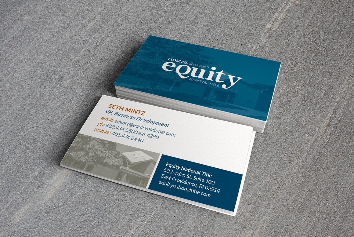 Equity National Title - Business Cards