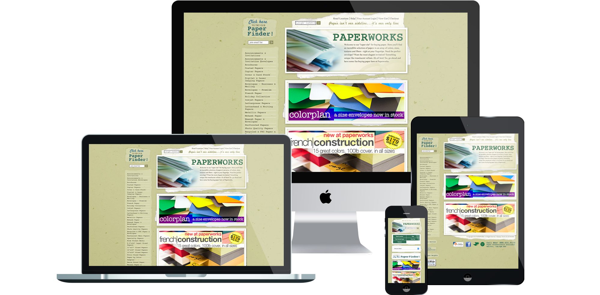 PaperWorks - e-Commerce Web Design and Development