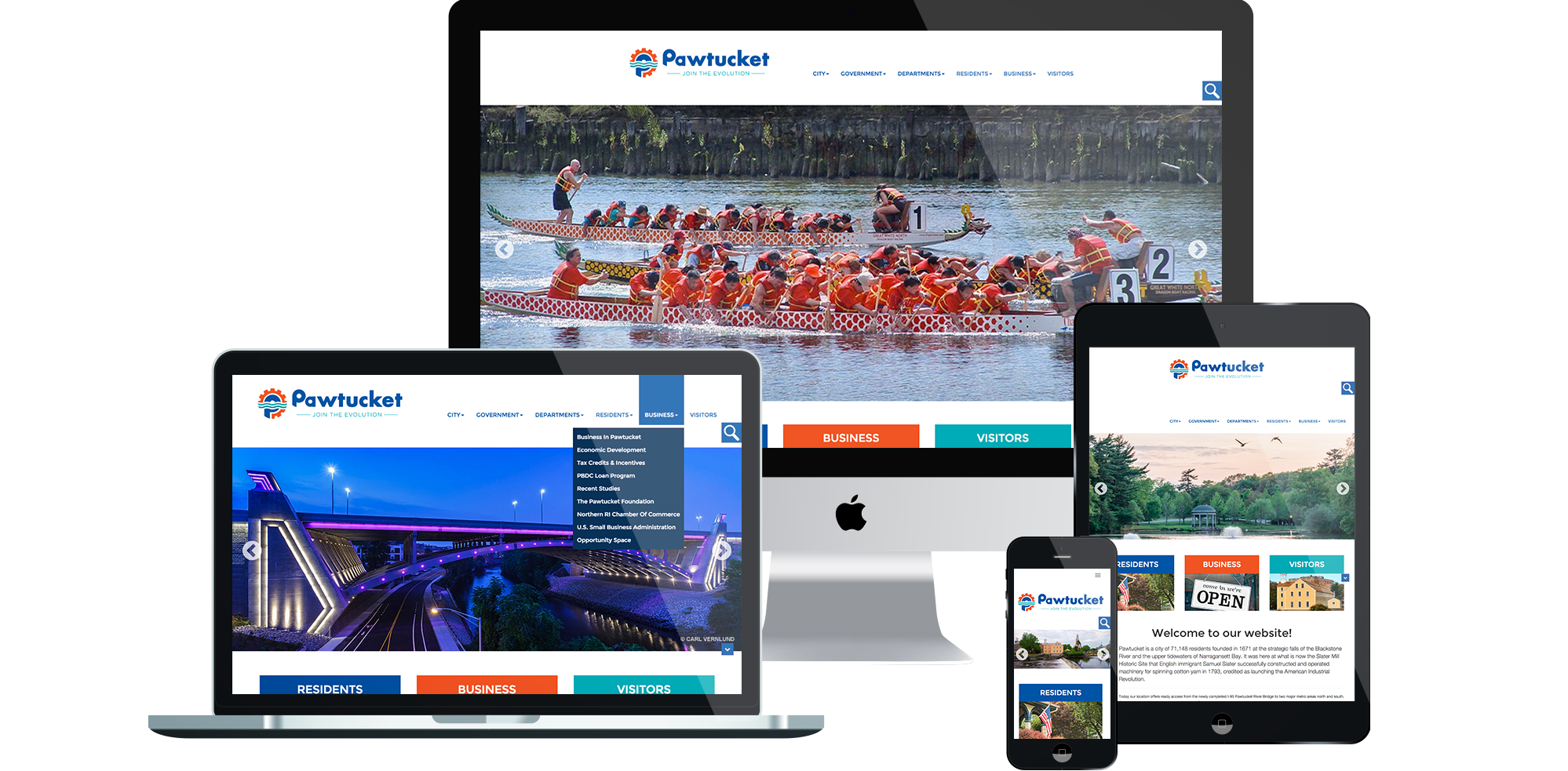 Pawtucket Rhode Island - Responsive Website Development