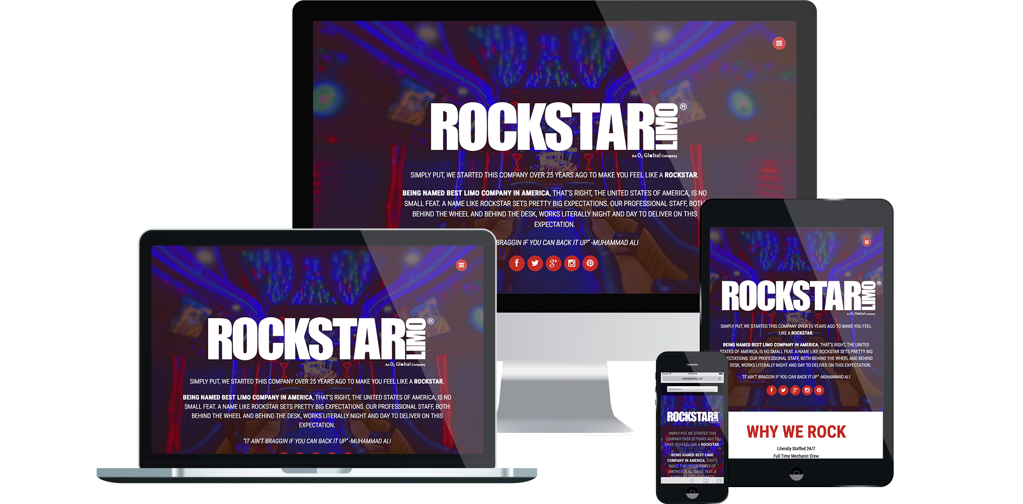 Rockstar Limo - Responsive Wordpress Web Design and Development