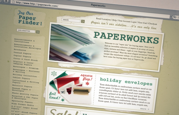 PaperWorks - e-Commerce Web Design and Drupal Development